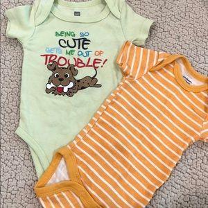 2 baby boy onesies
